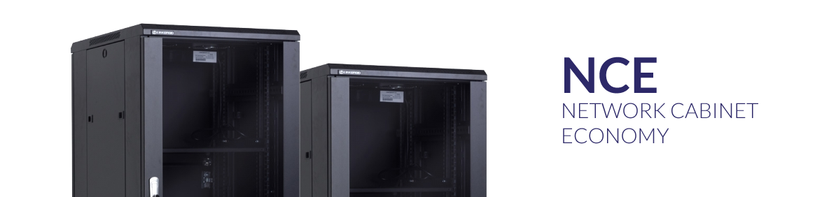 Economical floor-standing rack cabinets - NCE series