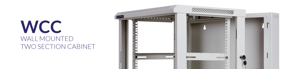 Wallmounted dual-section rack cabinets - WCC series