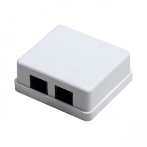 Surface-mounted slot with two ports RJ45 UTP cat. 5e