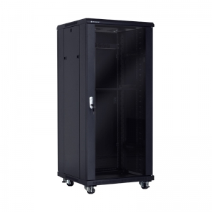 "Economical floor-standing cabinet 19"" 27U 600x600mm"