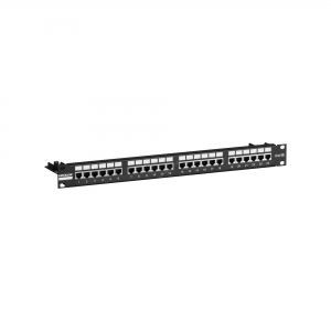 19-inch patch panel with 24 ports UTP cat. 5e