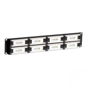 19-inch patch panel with 48 ports UTP cat. 5e
