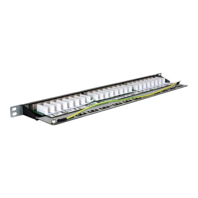 19-inch patch panel with 24 ports STP cat. 6